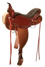 """Circle Y Daisetta Cordura Trail Saddle 15"""" Wide, Tobac"""