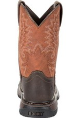 Rocky Children's Rocky Kids' Ride FLX Western Boot - Orange Brown