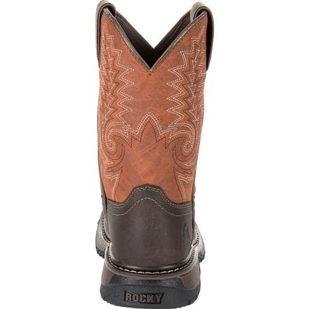 Rocky Children's Rocky Kids' Ride FLX Western Boot - Orange Brown