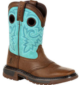 Rocky Children's Rocky Kid's Original Ride FLX Western Boot - Turquoise Brown