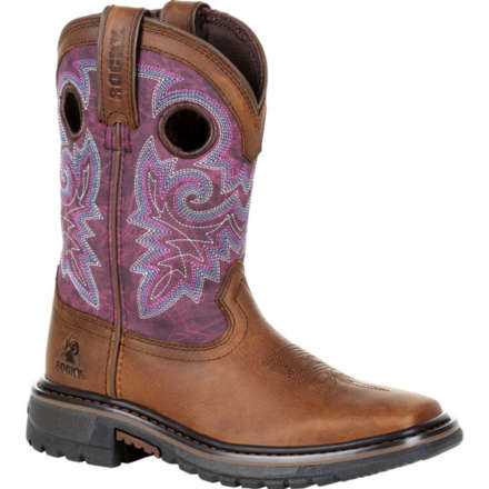 Rocky Children's Rocky Kid's Original Ride FLX Western Boot - Purple Brown