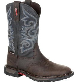 Rocky Women's Rocky Original Ride FLX Waterproof Western Boot - Chocolate Midnight Blue