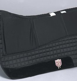 PRI PRI Nytro Gel Western Saddle Pad - Black