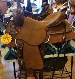"Circle L Circle L Cow Horse Saddle - 16"" FQHB"