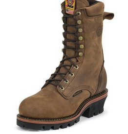 Justin Work Boots Men's Justin Casement Aged Bark Waterproof Steel Toe Workboot - Reg $274.95 @ $50 OFF!
