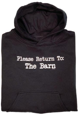 "Stirrups Children's Stirrups Hoodie - ""Return to Barn"""