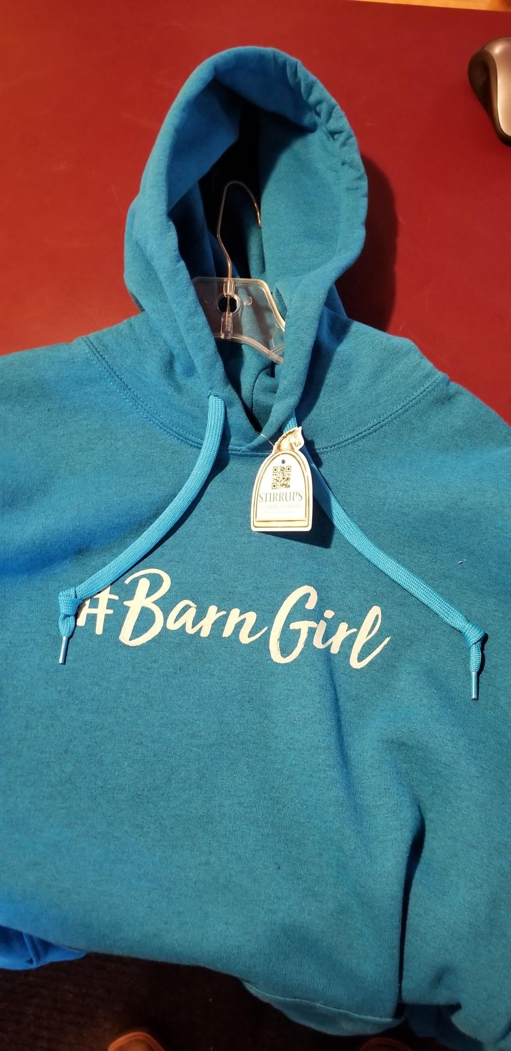 "Stirrups Women's Stirrups Hoodie - ""Barn Girl"""