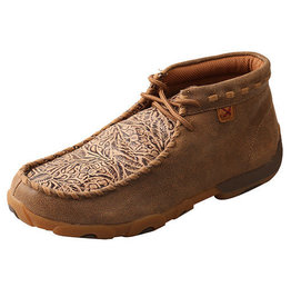 Twisted X Women's Chukka Driving Moc - Bomber/Nude Print