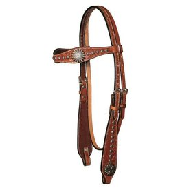 Circle Y Circle Y Sunburst-Headstall  5/8