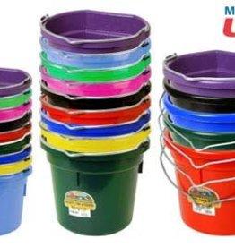 Fortiflex Plastic Flatback Bucket 8 QT
