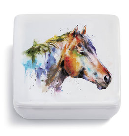 Lidded Vanity Box - Horse Head