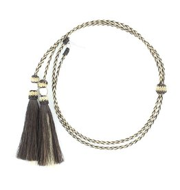 M & F Western Products Stampede Strings Blk/Wht, Horse Hair - Adult