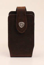 Ariat Leather Cell Phone Case, Medium Brown Rowdy