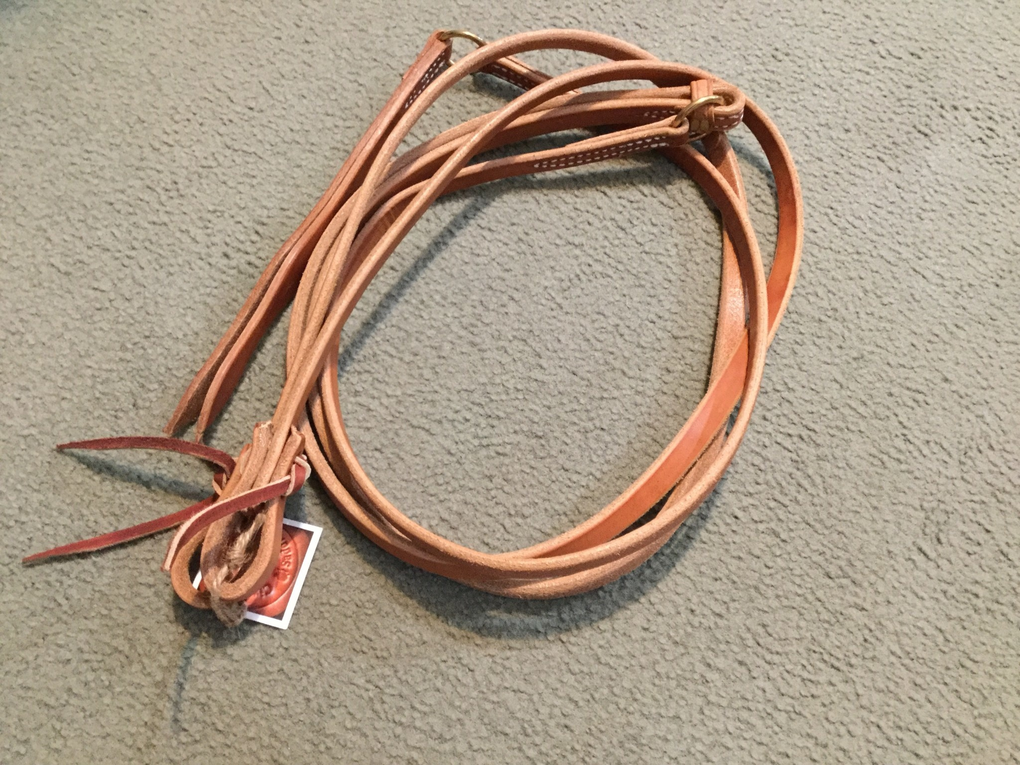 Circle L Circle L Leather Working Romal Reins Natural Oil -