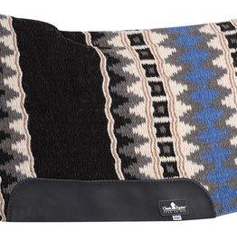 """Classic Equine ESP Contoured Wool, Black/Blue - 34x38 3/4"""""""