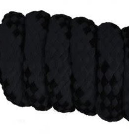 Showman Braided Softy Cotton Lead - 10' - Black