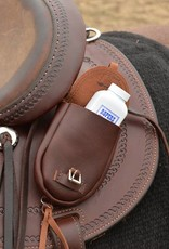 Cashel Tumble Leather Single Pouch Small Brown