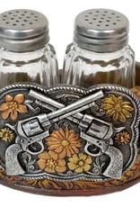 WEX Salt & Pepper Holder - Crossed Pistols Buckle