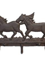 WEX Wall Decor - Cast Iron Running Horses Hooks