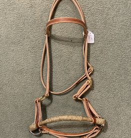 Circle L Circle L Side Pull w/Rawhide Nose - Horse, Lt. Oil
