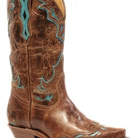 Boulet Western Women's Boulet Snip Toe Western Boot Turq Overlay (Reg $319.95 now 25% OFF!)