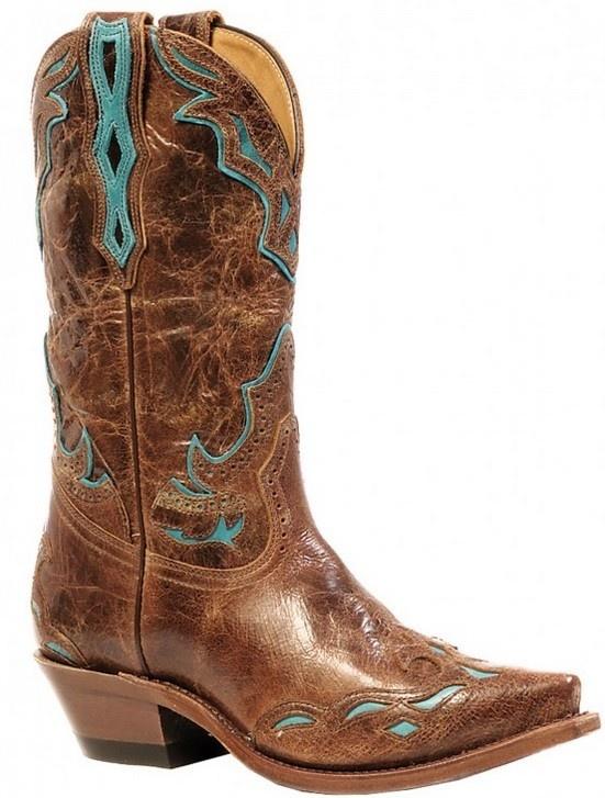 Boulet Western Women's Boulet Snip Toe Western Boot Turq Overlay (Reg $319.95 now 25% OFF!)