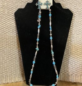 Set - Necklace/Earrings - Turquoise Cross Earrings - (Reg $22.95 now $10 OFF!)