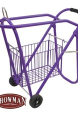Showman Rolling Saddle Rack with Basket - Purple
