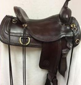 "Circle Y Circle Y Shawnee Brass Spotted Flex-Lite Trail Saddle - 16"" Black"