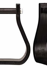 Tough1 Polymer/Synthetic Western Stirrups - Black, Full