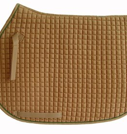 PRI Saddle Pad - PRI Quilted Cotton All Purpose Navy/Hunter