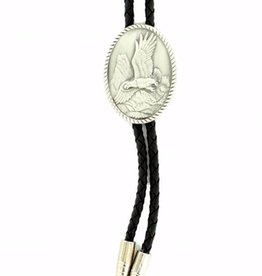 Bolo Tie - Pewter Eagle