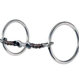 """Reinsman Snaffle - Medium Loose Ring Dog Bone - 5"""""""