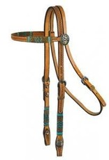 Circle Y Browband Headstall - Rawhide Full