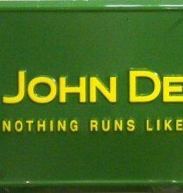 Western Fashion Accessories License Plate - John Deere - Nothing Runs Like A Deere