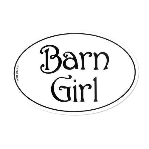 barn girl sticker
