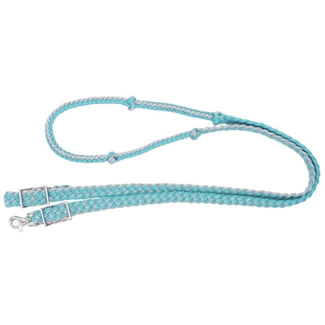 Tough1 Metallic Cord Knotted Roping Reins