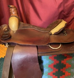 "Used - 15.5"" Roper/Trail Saddle with Rawhide Pommel, FQHB"
