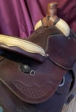 "Used - 15.5"" Roper/Trail Saddle with Rawhide Pommel, FQHB"