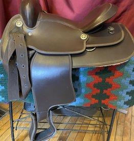 "Used Synthetic Western Saddle, FQHB - 15"""