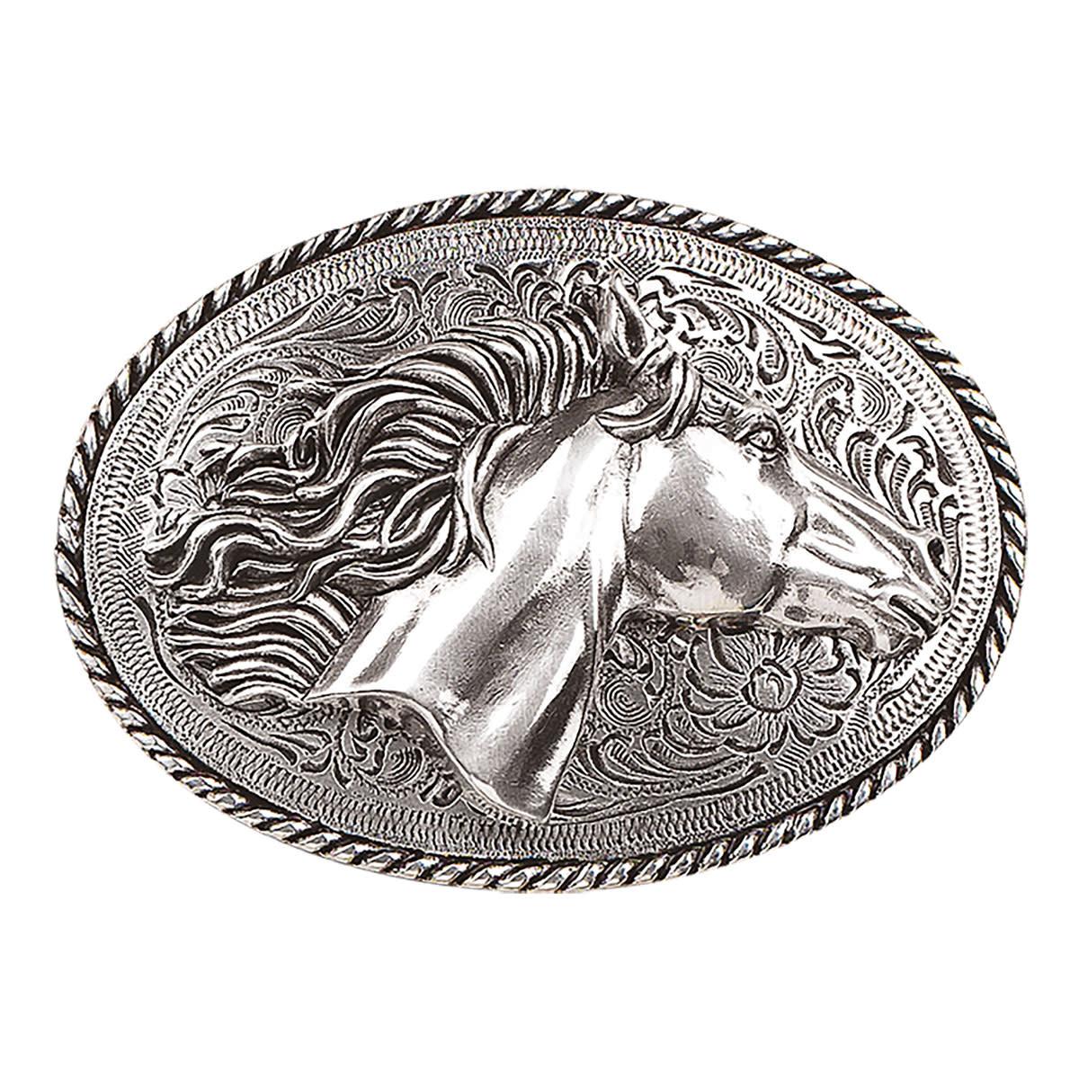 Blazin Roxx Oval Horsehead Buckle