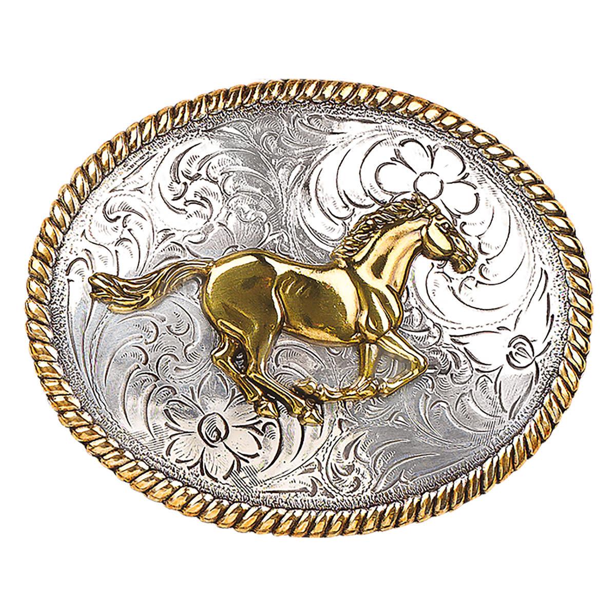 Blazin Roxx Oval Running Horse Buckle