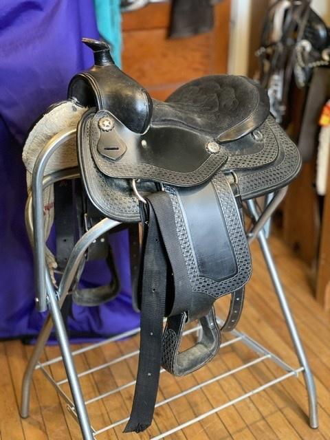 """Used Youth Western Trail Saddle, Pony Bars - 13"""""""