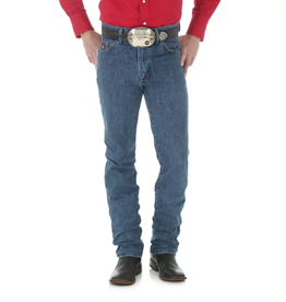 Wrangler Men'Wrangler PBR Slim Fit Traditional Boot Cut Jeans