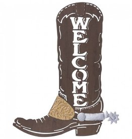 "Tough-1 Metal Sign - Cowboy Boot Welcome - 16"" x 20"""