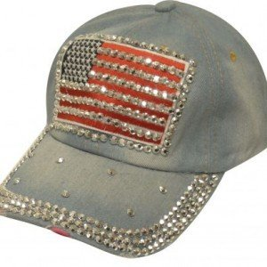 Couture Denim Hat w/American Flag