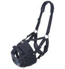 Tough-1 Deluxe Easy Breathe Poly/Nylon V Grazing Muzzle - Horse