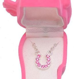 WEX Necklace - Pink Rhinestone Horseshoe