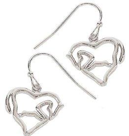 WEX Earrings - Horse Body/Heart