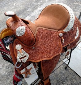 "Alamo 16"" SQHB Alamo Show Saddle Light Oil - Reg Price $2095 NOW $1595!!"